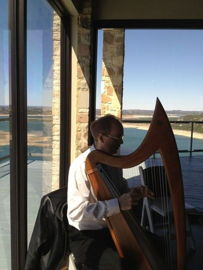 We played the celtic harp & viola for this wedding at The Oasis. What a beautiful setting and view...