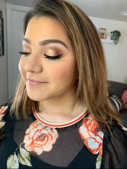 Makeup for an event
