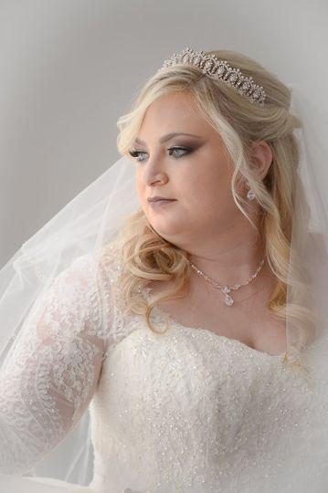 Window bridal portrait