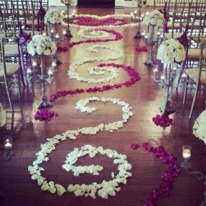 Indoor Ceremony -Aisle Decor