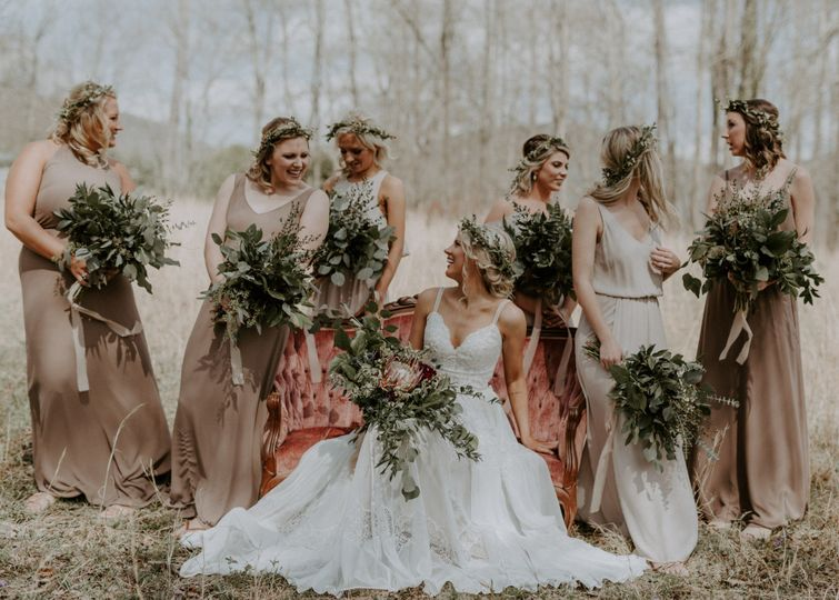 Bride and her gals
