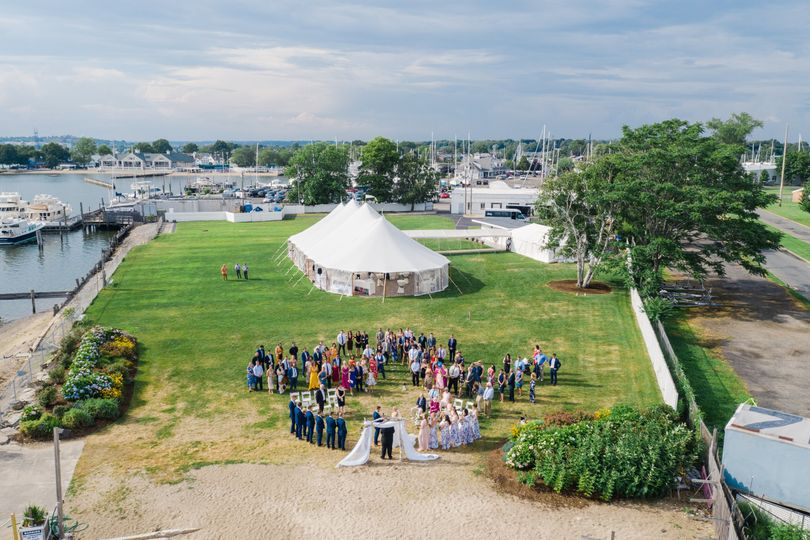 An Aerial Shot of Ceremony