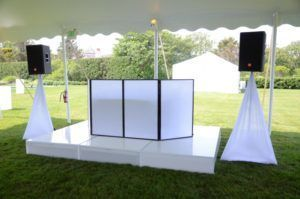 Outdoor dj booth setup