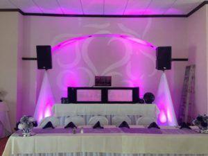Indoor dj booth setup