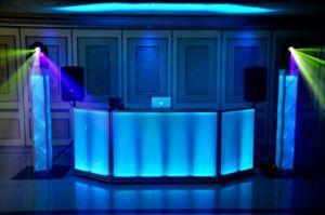 Elegant dj booth setup