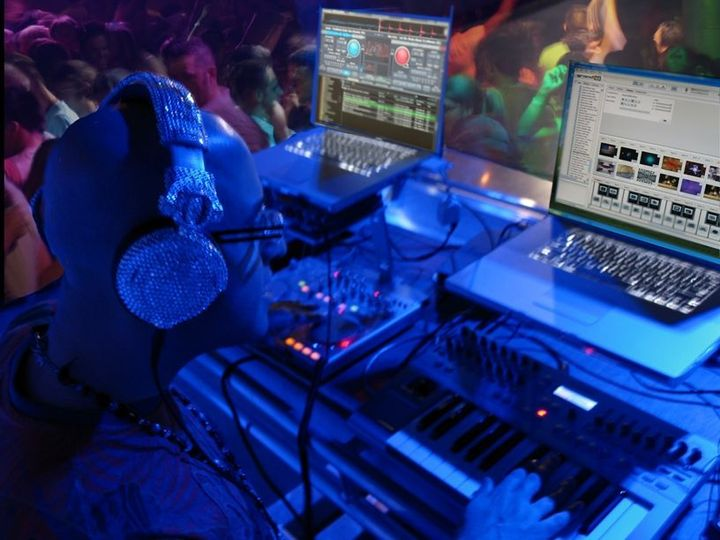 Modern dj booth setup