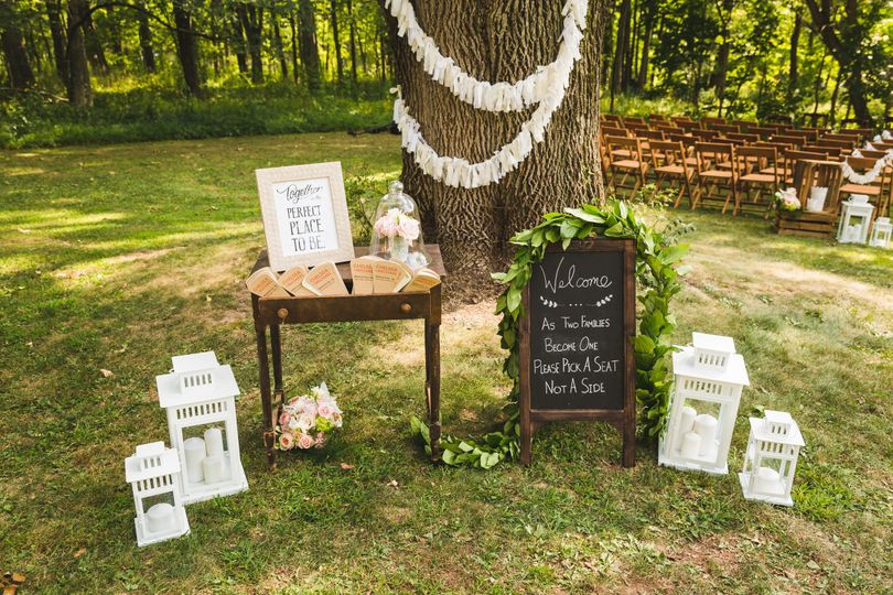 Rustic Vintage Outdoor Summer Wedding