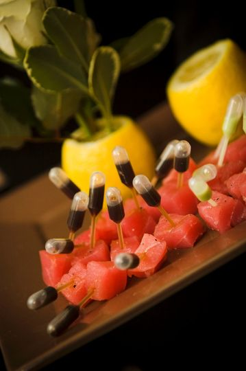 Ahi wasabi hors d'oeuvres