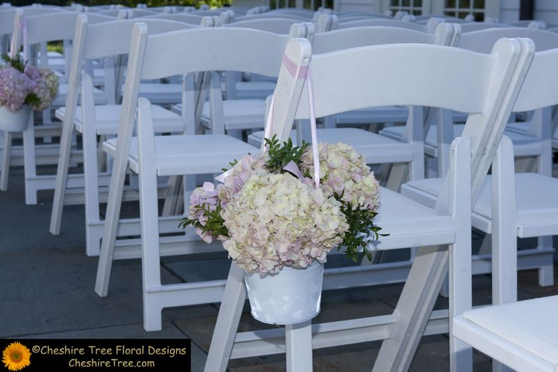 Floral aisle seat decor