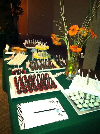 Buffet of sweet pastries