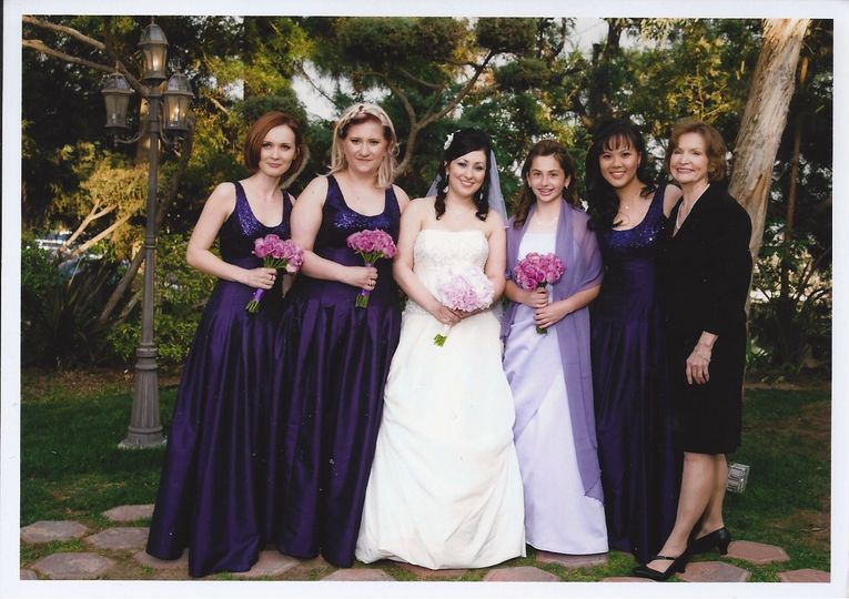 Bridal party and the officiant