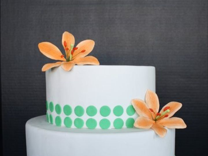 Tmx 1291827009192 GreenTigerLily Weehawken wedding cake