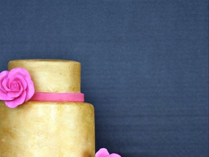 Tmx 1310565737913 Goldandpinkweddingcake Weehawken wedding cake