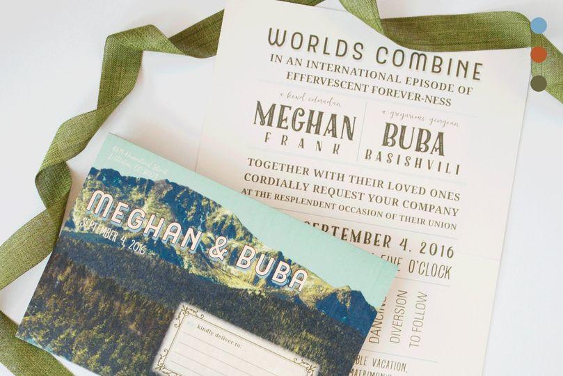 Mountain Mailer Wedding Invite