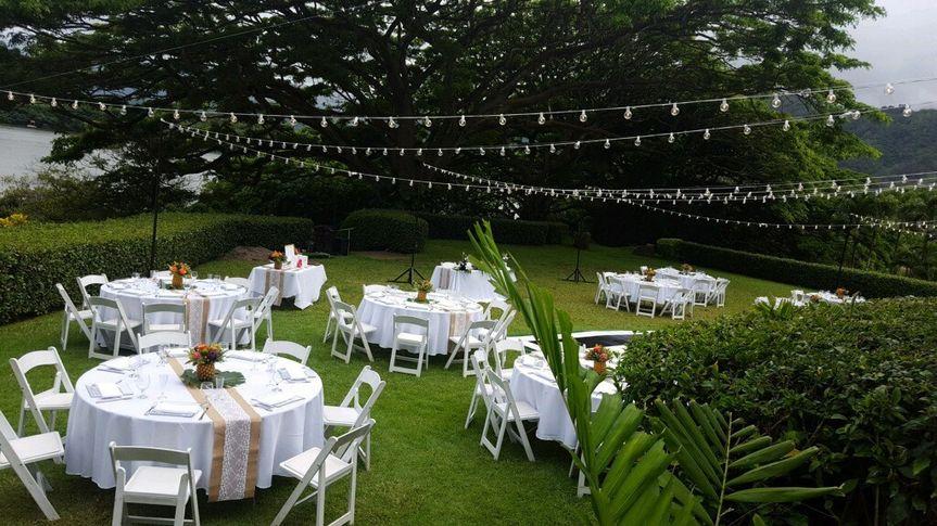 Beautiful outdoor reception
