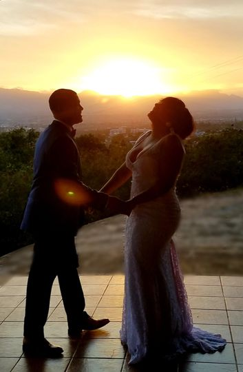 Sunset nuptials