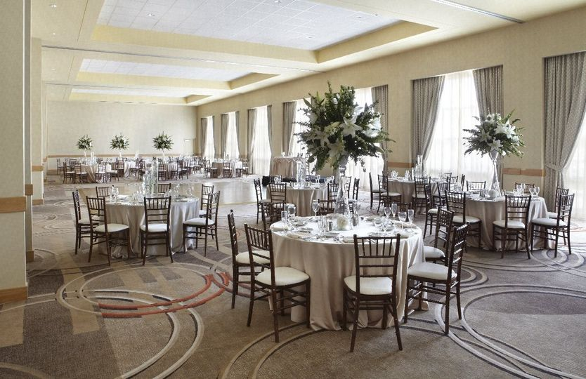 Lindbergh Ballroom: 4,000 square feet, 8 floor to ceiling windows, recently renovated!