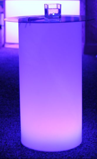 Purple light cocktail table