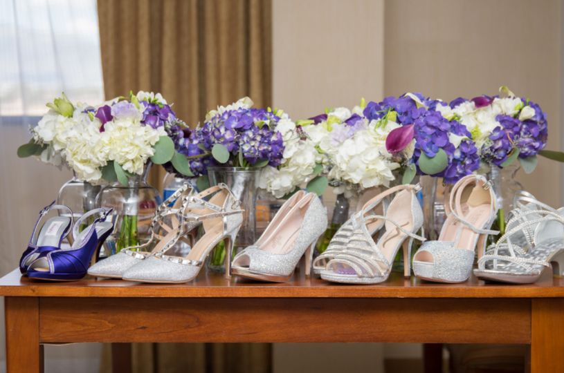 Wedding bouquets and heels