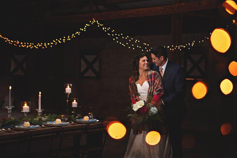 Couple in elegant event space