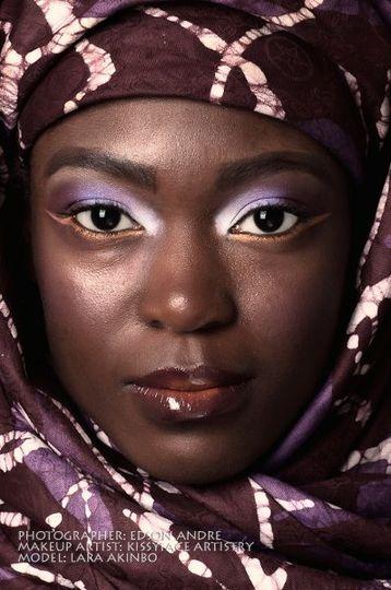 white, purple, exotic bridal makeup