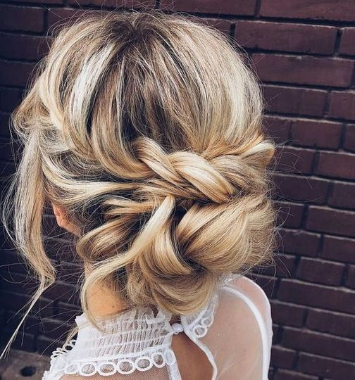 Twists and braided updo