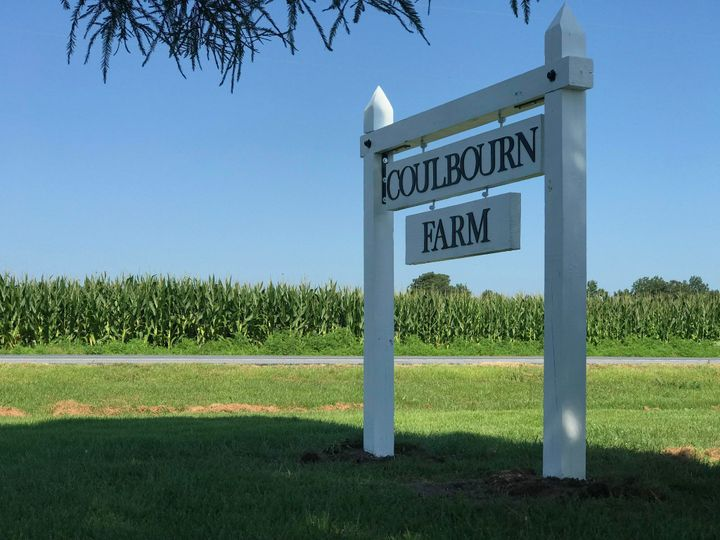 Coulbourn Farm sign