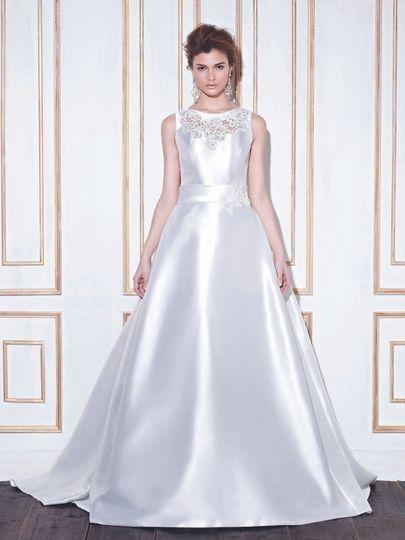 Simple silk dress