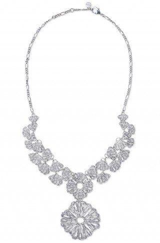 Tmx 1346339672332 Genevelacependantnecklacesilver1 Plymouth Meeting wedding jewelry