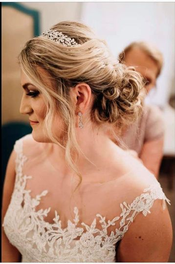 Gorgeous bridal hair with accessory
