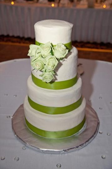 Apple Green Ribbon and Green Roses.  At the Four Points by Sheraton