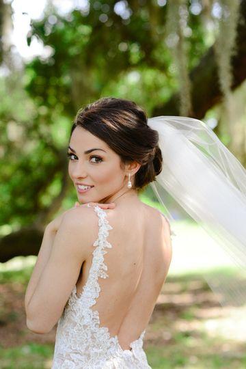 Bridal Updo and Makeup
