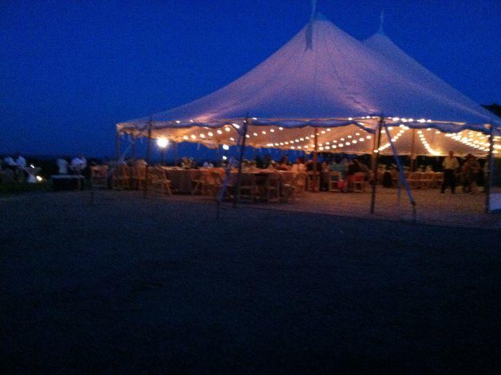 Tent venue reception area