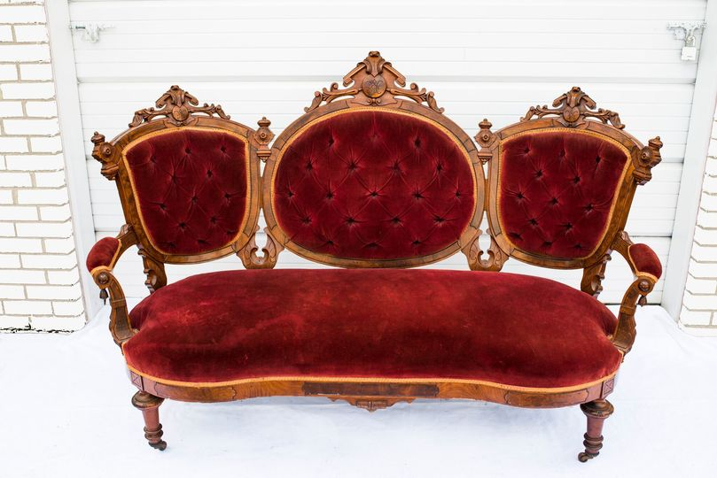 Red Vintage Sofas