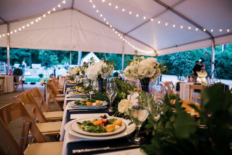Beautiful tent reception