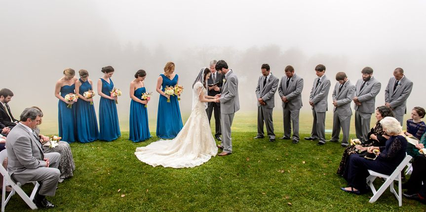 Couple with bridesmaids and groomsmen - fletcher & fletcher photography