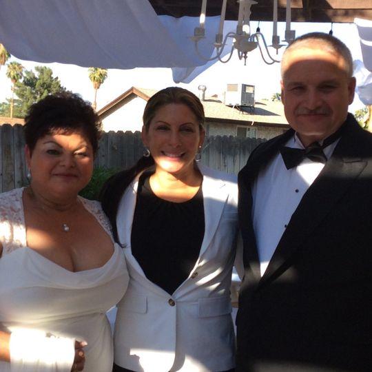 Happy couple with Joelle