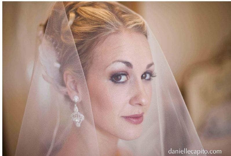 Stunning bride, Jocelyn Mabery. Makeup by All Dolled Up
