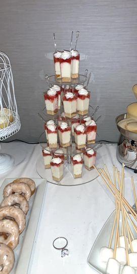 Elegant miniature desserts