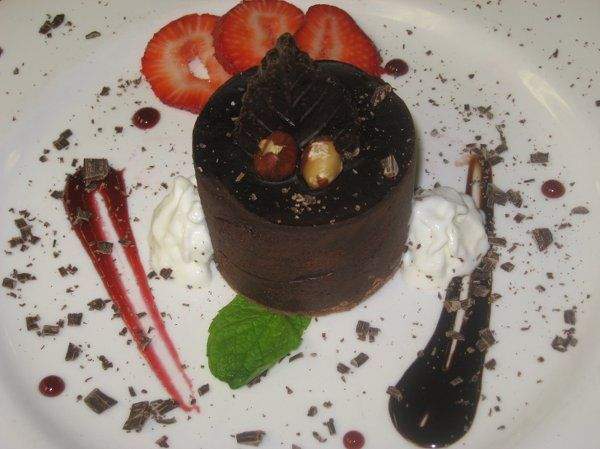 One of many desserts offered.