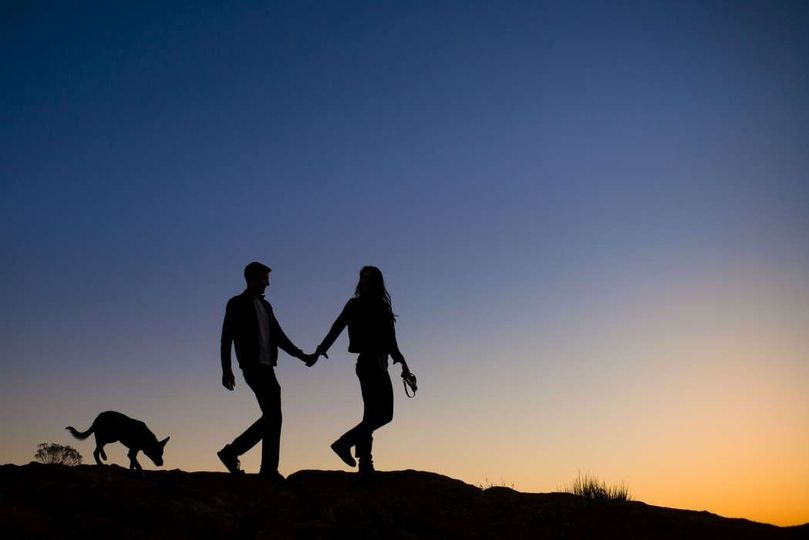 adventure photography silhouette engaged couple an