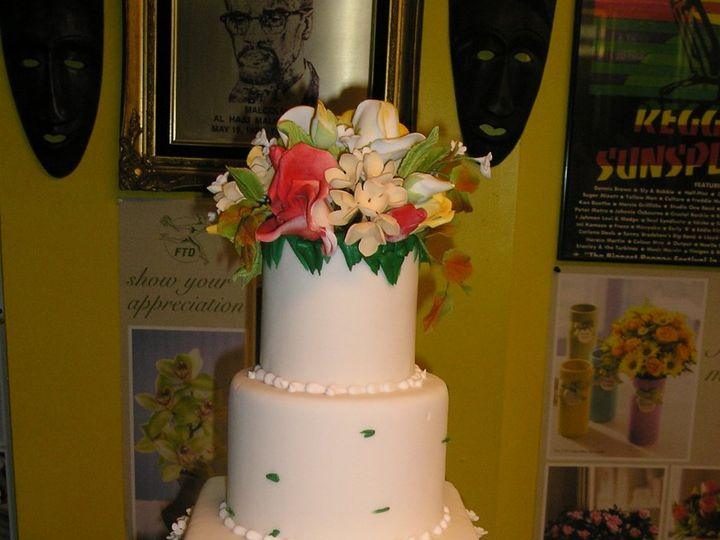 Tmx 1360082073321 Floralcake003 Brooklyn wedding cake