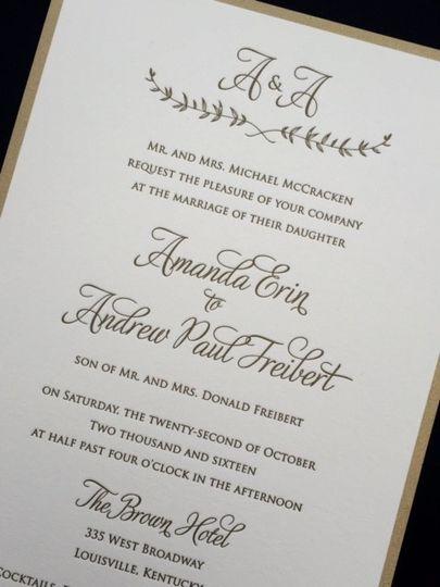 Julie Diamond Invitations Calligraphy Wedding Invitations – Wedding Invite Calligraphy