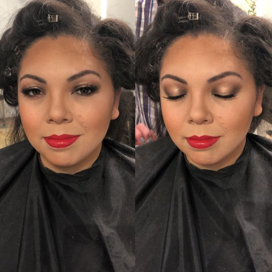 Trial hair and make up
