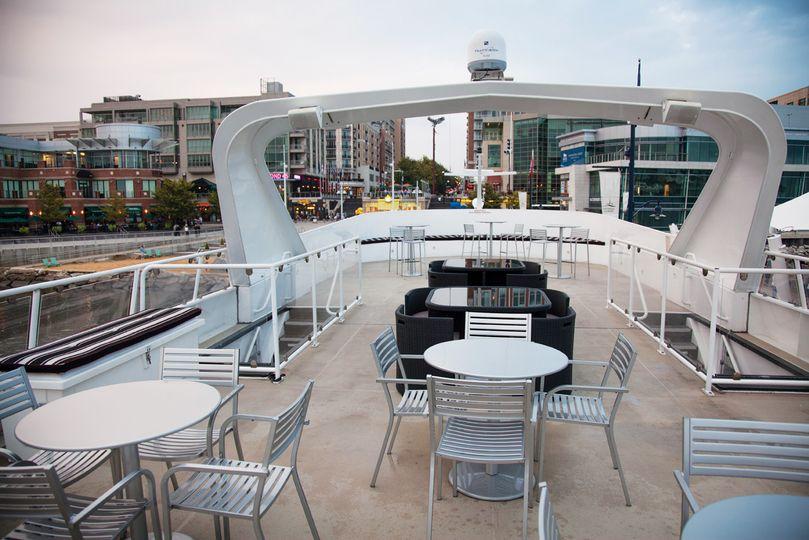 Rooftop observation deck - perfect for outdoor ceremonies.