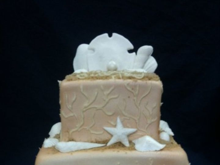 Tmx 1277274522458 Beachcake Meridian wedding cake