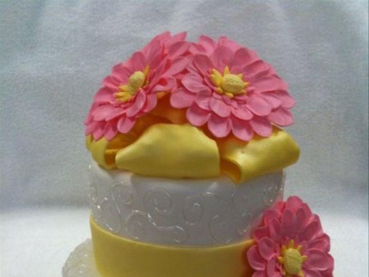 Tmx 1277275206895 Pinkandyellowbridalshower Meridian wedding cake