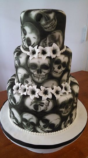 Skull Wedding Cake / House of Blues Wedding