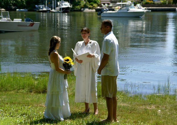 Nature and family filled ceremony.