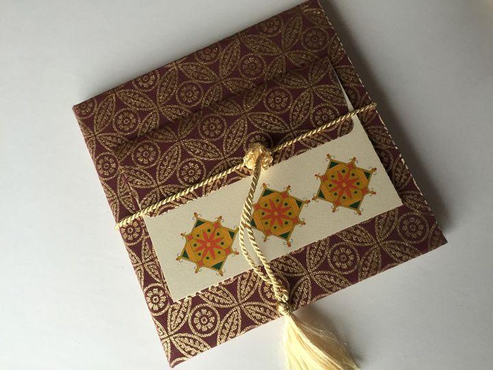 Rangoli Indian wedding invite
